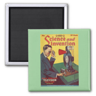 Science And Invention 2 Inch Square Magnet