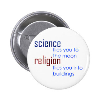 science and religion 2 inch round button