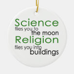 Science and religion christmas tree ornaments