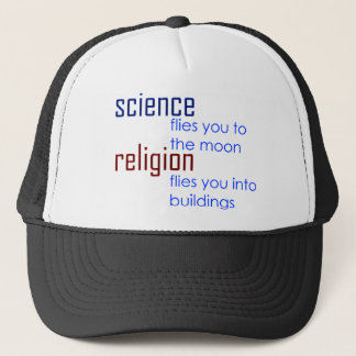 science and religion trucker hat