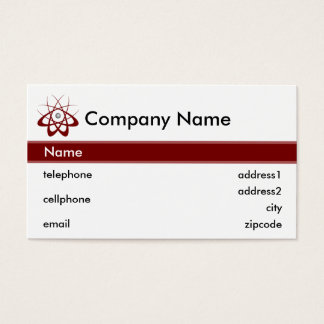 Science and Technology Business Card Design