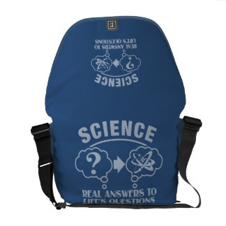 Science Answers custom messenger bag