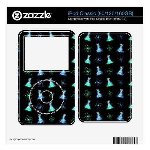 Science Aqua Blue Flask Decal For The iPod