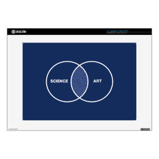 "Science / Art Venn Diagram 15"" Laptop Decal"