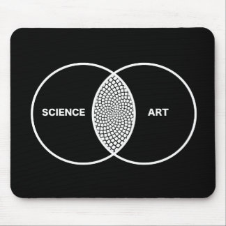 Science / Art Venn Diagram Mouse Pad