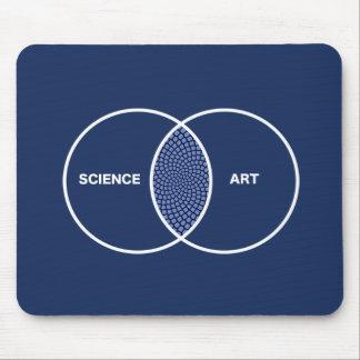 Science / Art Venn Diagram Mousepads