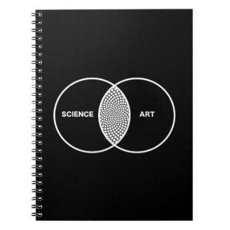 Science / Art Venn Diagram Spiral Notebook
