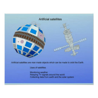 Science, Artificial satellites Poster