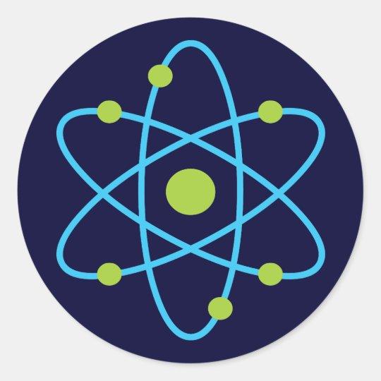 Science Atom Classic Round Sticker