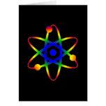 science atom greeting card