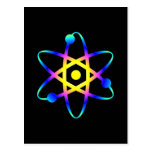 science atom post card