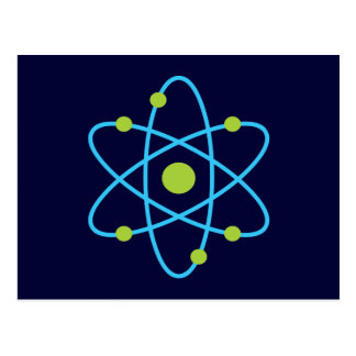 Science Atom Post Cards