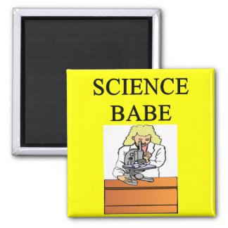 SCIENCE BABE 2 INCH SQUARE MAGNET