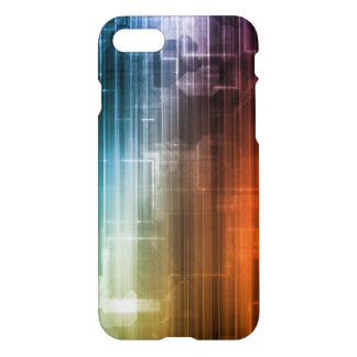Science Background With Glowing Techno Lines Art iPhone 7 Case