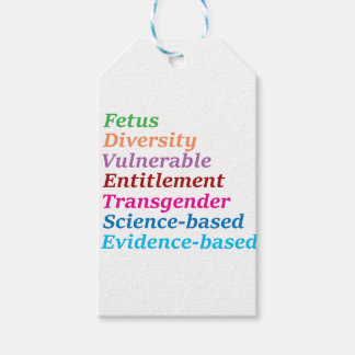 Science based and other banned words gift tags