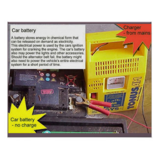 Science, battery charger print
