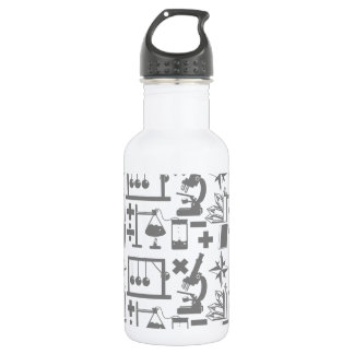 Science Biology Physics Geography Math Pattern Water Bottle