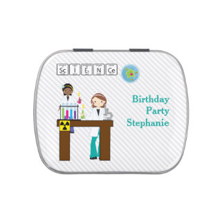 Science Birthday Party Girls Candy Tin