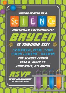 Science birthday invitations announcements zazzle science birthday party invitation filmwisefo