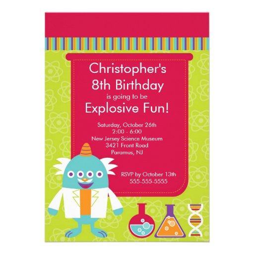 Science Birthday Party Invitation