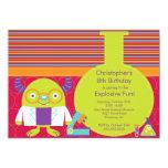 "Science Birthday Party Invitation 5"" X 7"" Invitation Card"