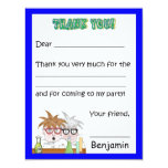 Science Birthday Party Thank You Note Chemistr 4.25x5.5 Paper Invitation Card