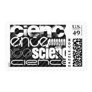 Science; Black & Dark Gray Stripes Postage
