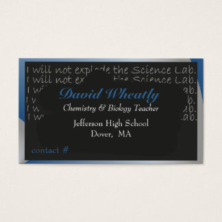 Science Blackboard Teacher Business Card