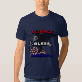 Science Bless America American Flag And Bald Eagle T-shirts