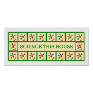 Science Bless this House Funny Inspirational Decor