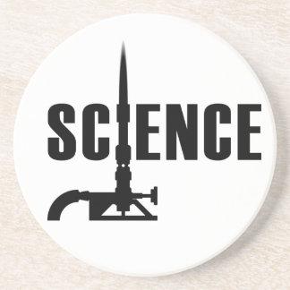 Science Bunsen Burner Coaster (dark silhouette)