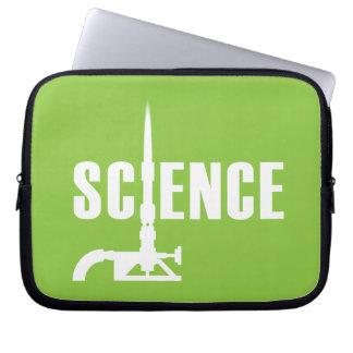 Science Bunsen Burner Laptop Sleeve (light)