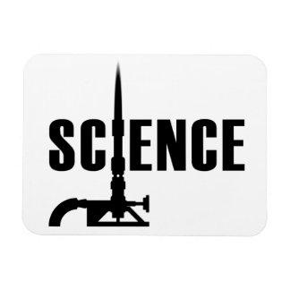 Science Bunsen Burner Magnet (dark silhouette)