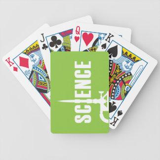 Science Bunsen Burner Playing Cards (lt silhouet.)