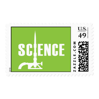 Science Bunsen Burner Postage (light silhouette)