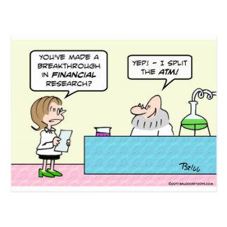 science business financial breakthrough split ATM Postcard