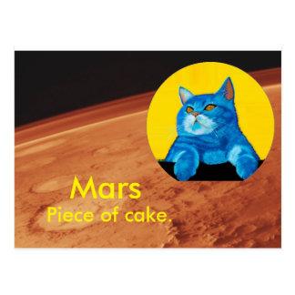 Science Cat - Mars Postcard
