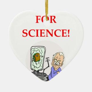 science ceramic ornament