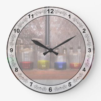 Science - Chemist - Glassware for couples Large Clock