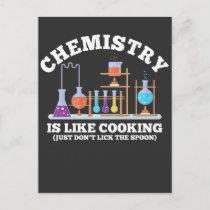 Science Chemist Humor Chemistry Is Like Cooking Postcard