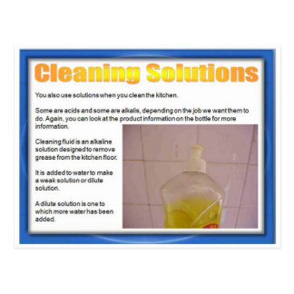 Science, Chemistry, Cleaning Solutions Postcard