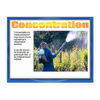 Science, Chemistry, Concentrated solutions Postcard