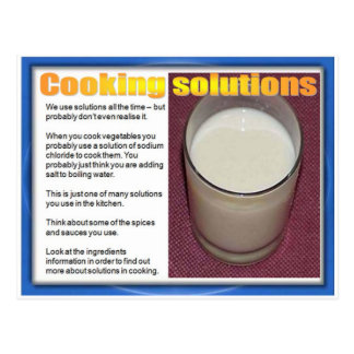 Science, Chemistry, Cooking solutions Postcard