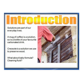 Science, Chemistry, Introducing Solutions Postcard
