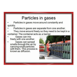 Science, Chemistry, Particles in Gases Postcard