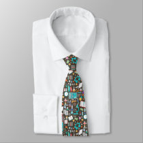 Science / Chemistry Pattern Neck Tie