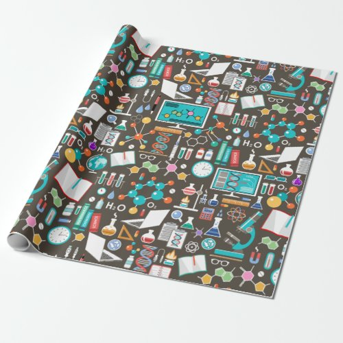 Science  Chemistry Pattern Wrapping Paper