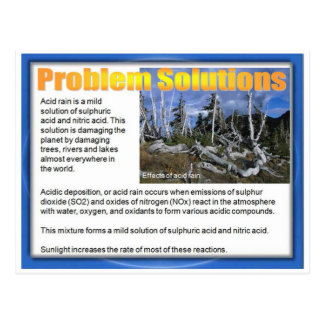 Science, Chemistry, Problem Solutions Postcard