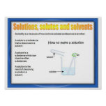 Science, Chemistry, Solutions, Solutes, Solvents Poster
