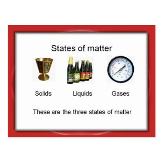 Science, Chemistry, States of Matter Postcard